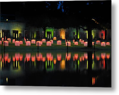 Oklahoma City National Memorial - Field Of Empty Chairs Metal Print by Gregory Ballos