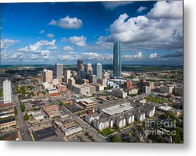 Oklahoma City Metal Print by Cooper Ross