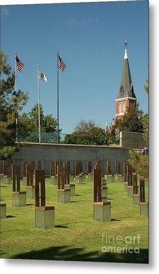 Oklahoma City National Memorial Metal Print by Richard and Ellen Thane