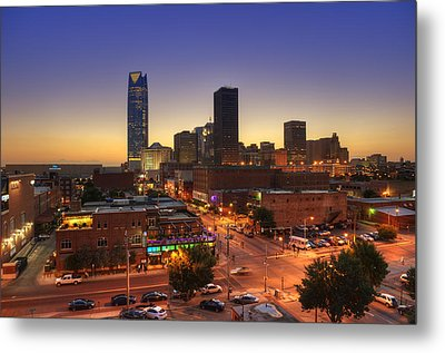 Oklahoma City Nights Metal Print