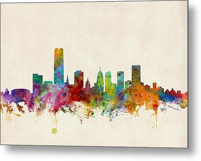 Oklahoma City Skyline Metal Print by Michael Tompsett