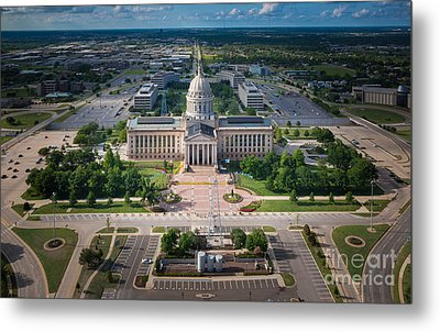 Oklahoma City State Capitol Building A Metal Print by Cooper Ross
