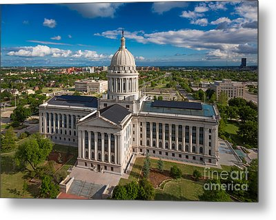 Oklahoma City State Capitol Building C Metal Print by Cooper Ross