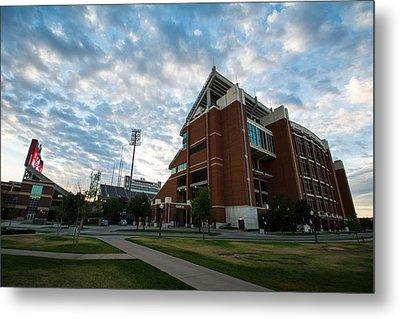 Oklahoma Memorial Stadium Metal Print by Nathan Hillis