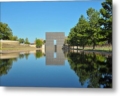 Oklahoma Reflections Metal Print by Paul Van Baardwijk