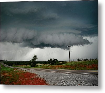Metal Print featuring the photograph Oklahoma Wall Cloud by Ed Sweeney