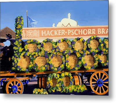 Metal Print featuring the painting Oktoberfest by Lynne Reichhart