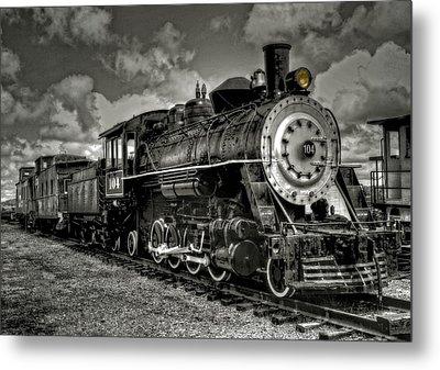 Old 104 Steam Engine Locomotive Metal Print