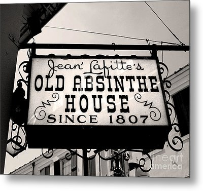Old Absinthe House Metal Print by Jillian Audrey Photography