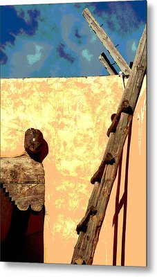 Metal Print featuring the photograph Old Adobe by Mary Bedy
