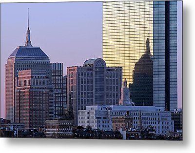 Old And New John Hancock Building Metal Print by Juergen Roth