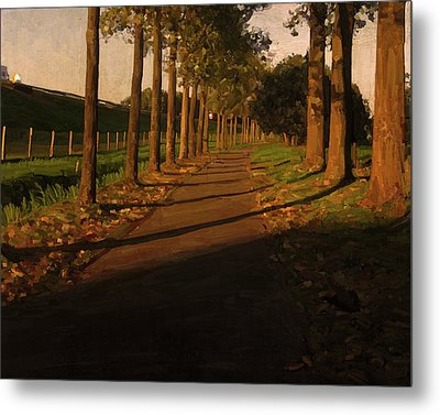 Metal Print featuring the painting Old And New Road In Tilburg by Nop Briex