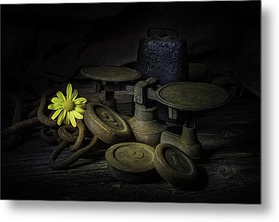 Old And Rusted Still Life Metal Print