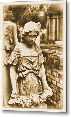 Metal Print featuring the photograph Blessed Angel   by Nadalyn Larsen