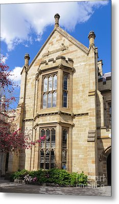 Old Arts Building - Melbourne University - Australia - Academic Tudor - Jacobethan Style Building Metal Print by David Hill