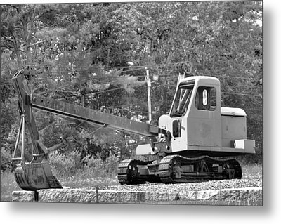 Old Backhoe Metal Print by Tara Potts