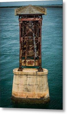 Old Bahia Honda Bridge Metal Print