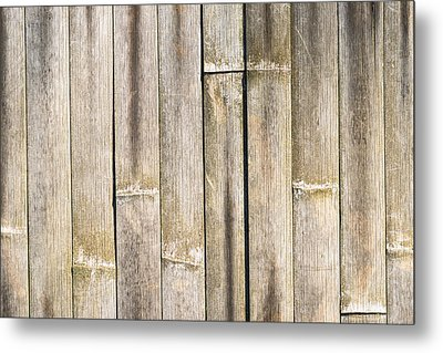 Old Bamboo Fence Metal Print