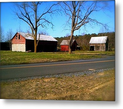 Metal Print featuring the photograph Old Barn by Amazing Photographs AKA Christian Wilson