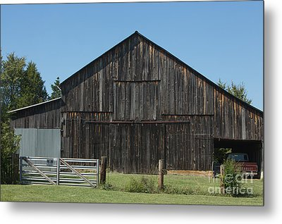 Old Barn And Truck Metal Print by Kay Pickens