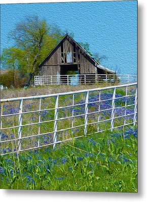 Old Barn - Another Spring Metal Print by Robert J Sadler