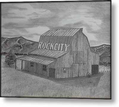 Old Barn II Metal Print