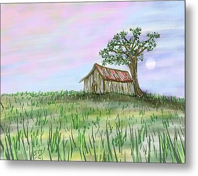 Old Barn Metal Print by Stacy C Bottoms