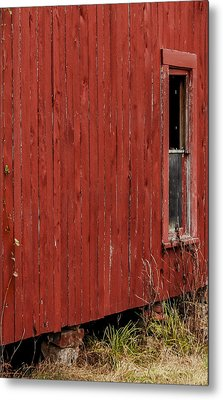 Metal Print featuring the photograph Old Barn Window by Debbie Karnes