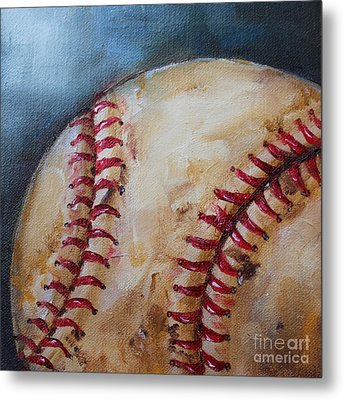 Old Baseball Metal Print by Kristine Kainer
