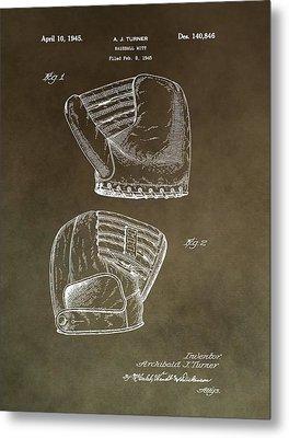Old Baseball Mitt Patent Metal Print by Dan Sproul