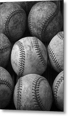 Old Baseballs Metal Print by Garry Gay
