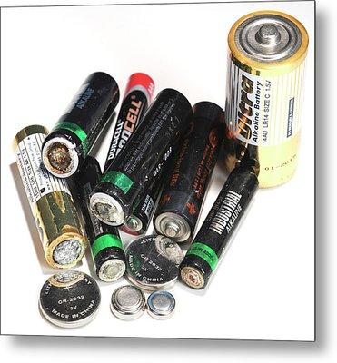 Old Batteries Metal Print