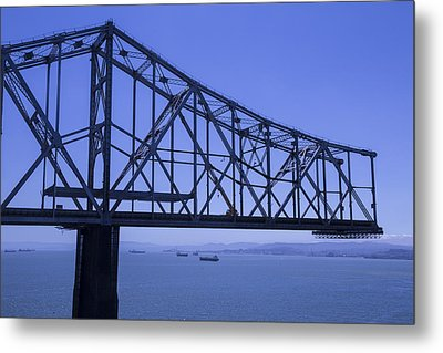 Old Bay Bridge Metal Print by Garry Gay