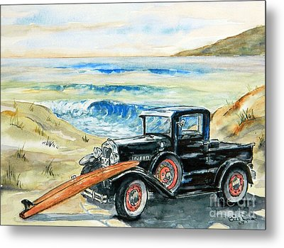 Old Beach Buggy Metal Print by William Reed