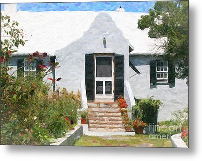 Metal Print featuring the photograph Old Bermuda Home by Verena Matthew