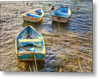 Metal Print featuring the photograph Old Bermuda Rowboats by Verena Matthew