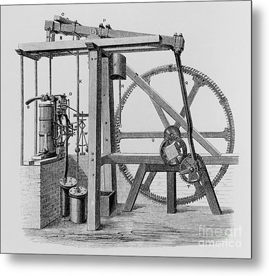 Old Bess Steam Engine Metal Print by SPL and Science Source