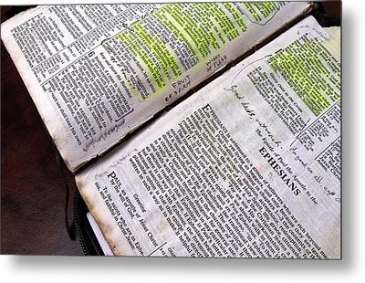 Old Bible Metal Print
