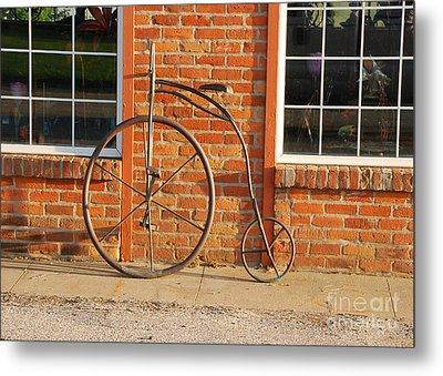 Metal Print featuring the photograph Old Bike by Mary Carol Story