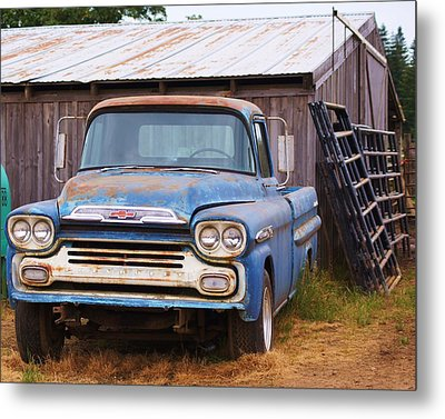 Old Blue Metal Print by Angi Parks