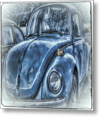 Old Blue Bug Metal Print