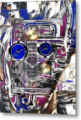 Metal Print featuring the digital art Old Blue Eyes by Seth Weaver