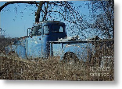 Old Blue  Metal Print by J L Zarek