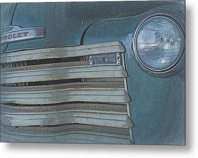 Old Blue Metal Print by Lynn Sprowl