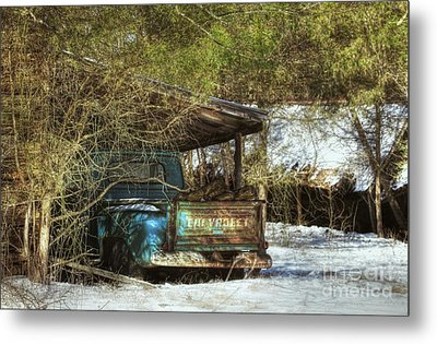Old Blue Tucked Away Metal Print