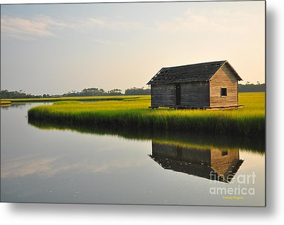 Old Boathouse Metal Print