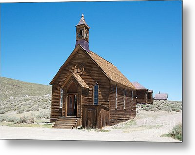 Metal Print featuring the photograph Old Bodie Church by Vinnie Oakes