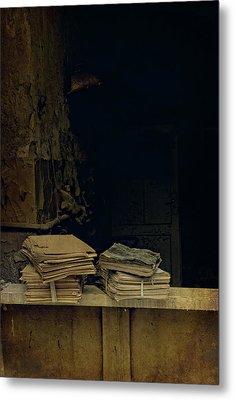 Old Books Metal Print by Jaroslaw Blaminsky