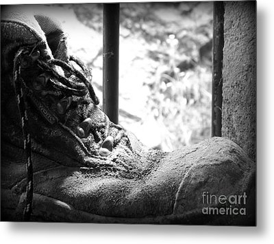 Metal Print featuring the photograph Old Boots by Clare Bevan