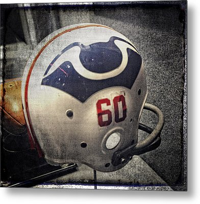 Old Boston Patriots Football Helmet Metal Print by Mike Martin